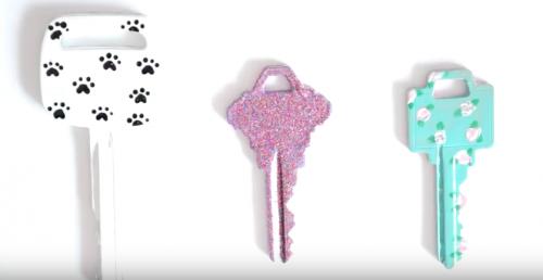 La pupurina para decorar llaves y objetos varios.