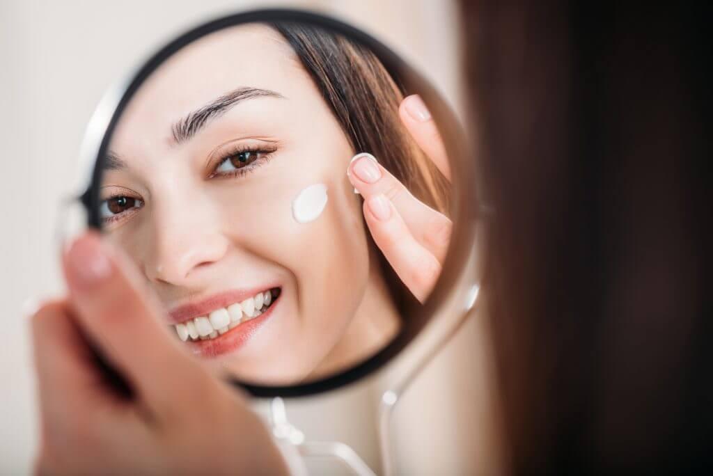 Crema solar para detener las arrugas