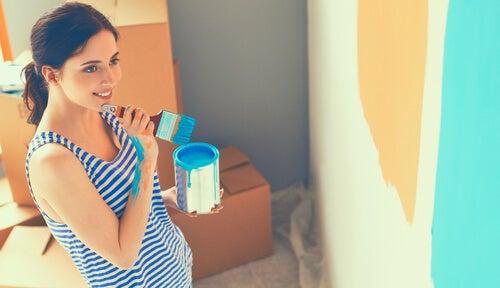 Consejos para pintar las paredes de las habitaciones