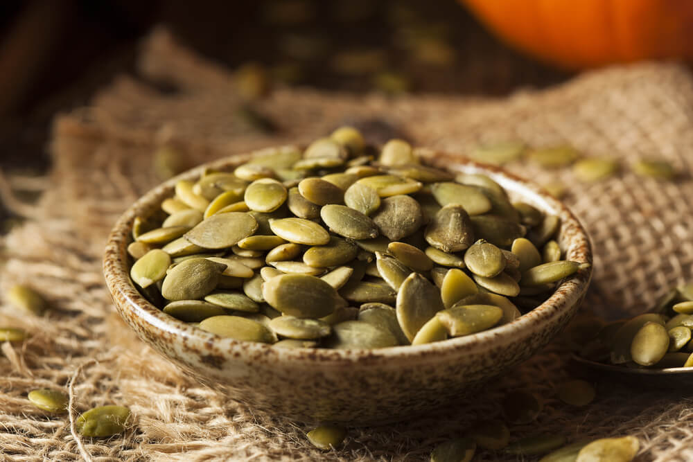 frutos secos: semillas de calabaza