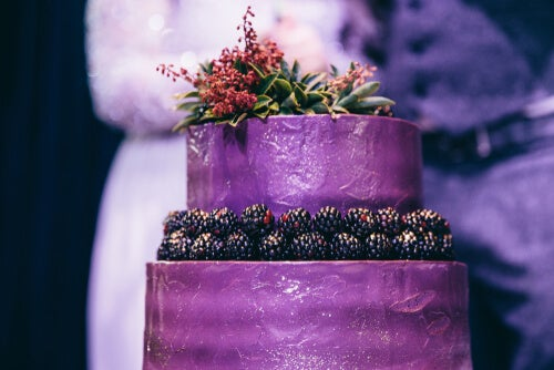 Tarta con textura para bodas.