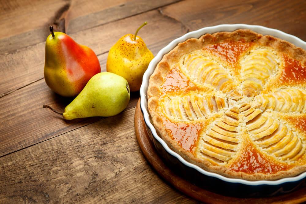 Preparar una tarta de pera