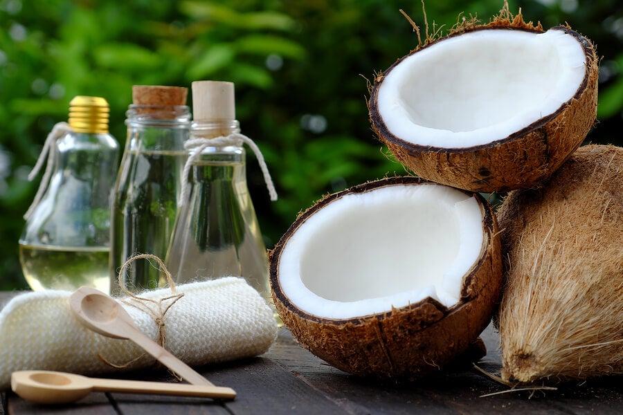 Tratamientos con aceite de coco para la piel.
