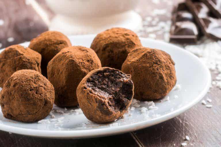 Receta fácil de trufas de chocolate