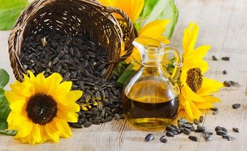 Aceite de girasol para astringente casero