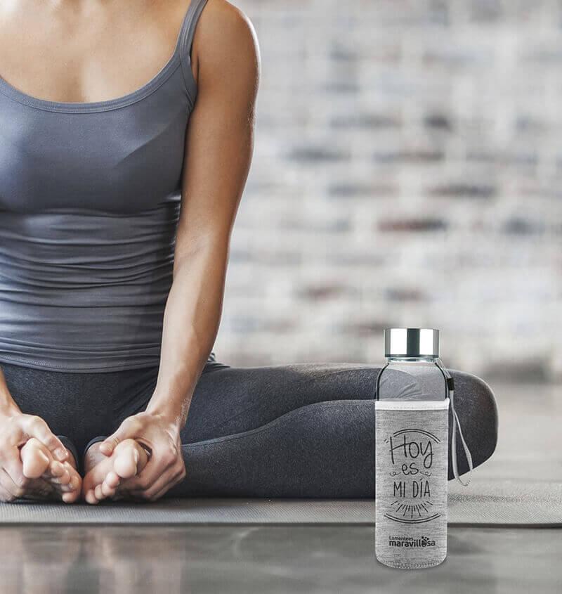 Botella de agua de La mente es maravillosa.