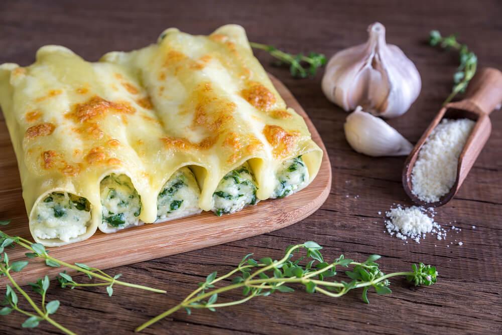 Descubre cómo preparar canelones de verdura en casa