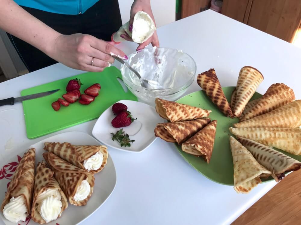 Aprende a preparar estos deliciosos canutillos rellenos de crema