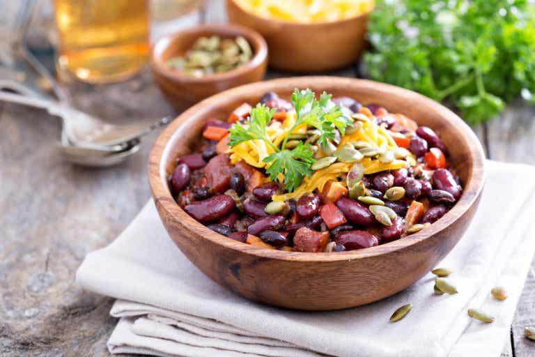 Chili vegetariano estilo Southwest