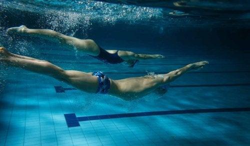 Compañeros de natación