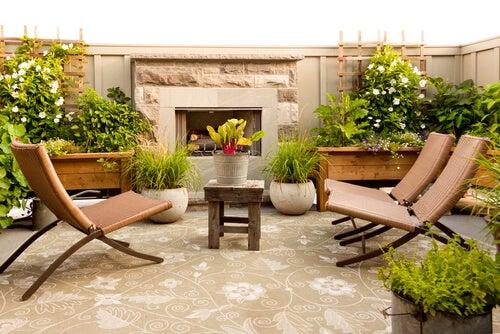 Usa plantas para hacer tu terraza más agradable