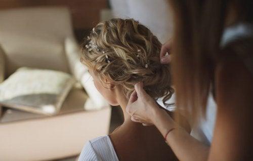 Peinados para la boda.