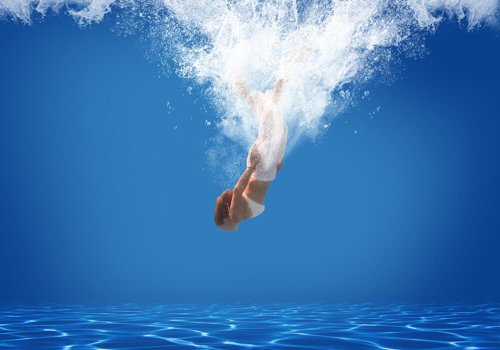 piscina en verano