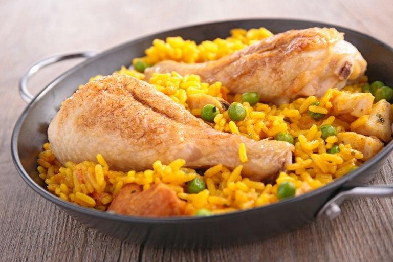 Receta de arroz con pollo muy al estilo español