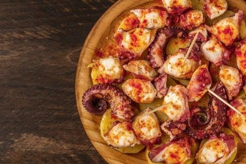 Delicioso pulpo a la gallega, receta casera