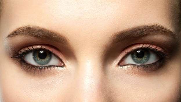 Raya interna en el ojo
