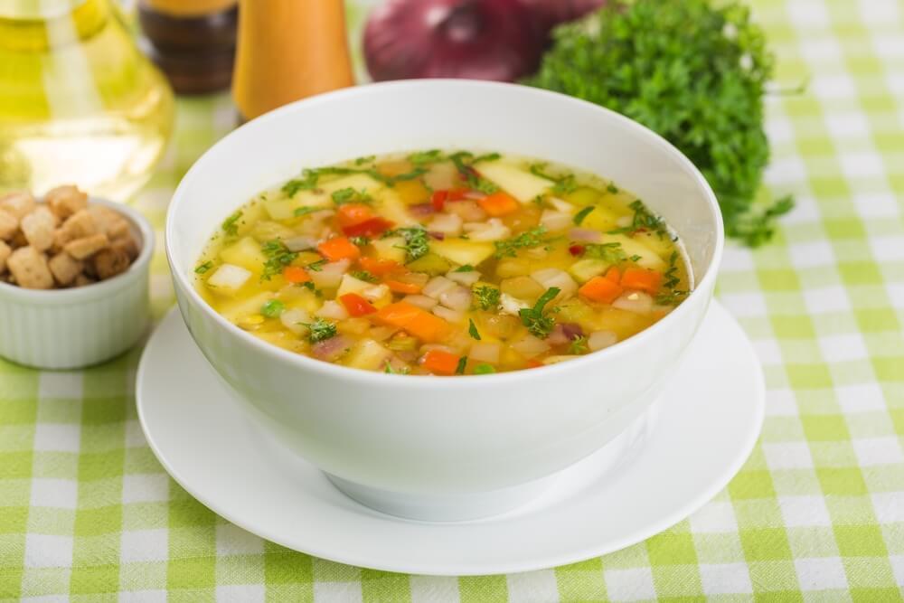 Adelgazar con sopa de verduras