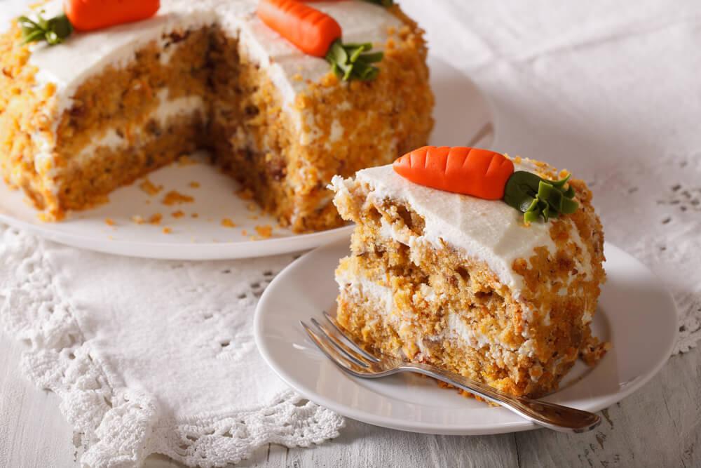 Rico pastel de zanahoria sin huevo ni grasa