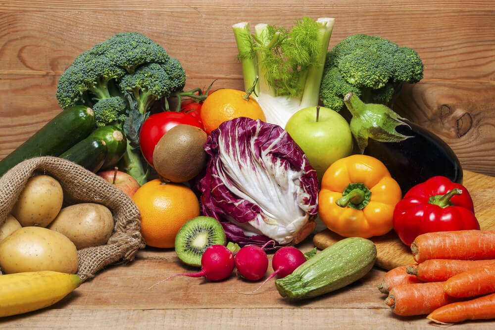 Variety of healthy foods.