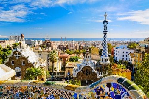 Vista de Barcelona desde el parque Güell.