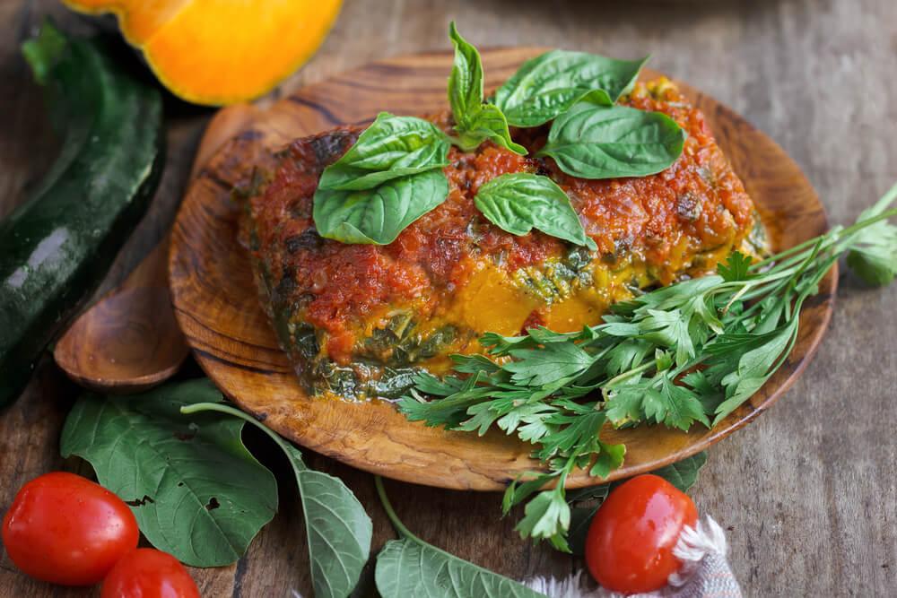 Lasaña vegana, una de las recetas vegetarianas ideales par adelgazar