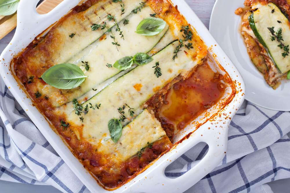 Deliciosa receta de lasaña sin pasta para una tarde en familia