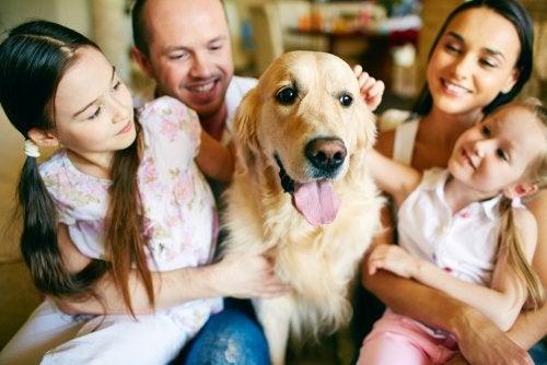 familia con mascota aprendiendo a vivir mejor