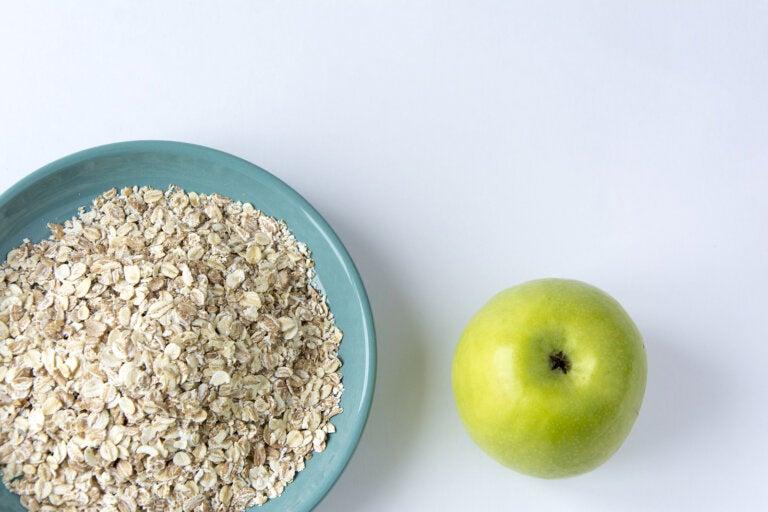 Remedio de avena y manzana para fortalecer la salud cardíaca