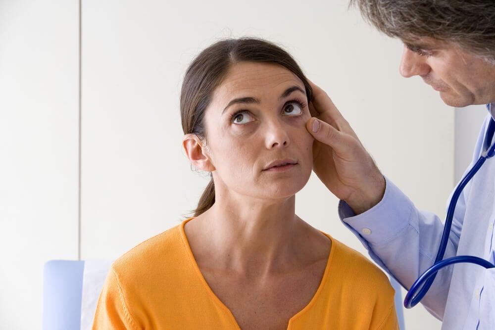 Ictericia en una mujer embarazada con colestasis.