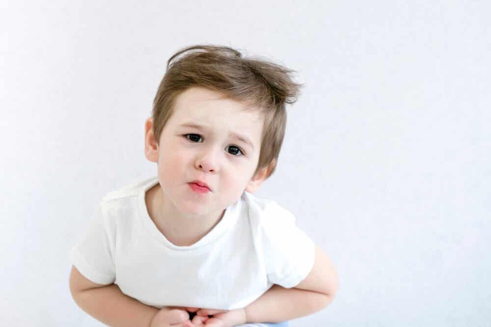 Niño con esteateorrea.