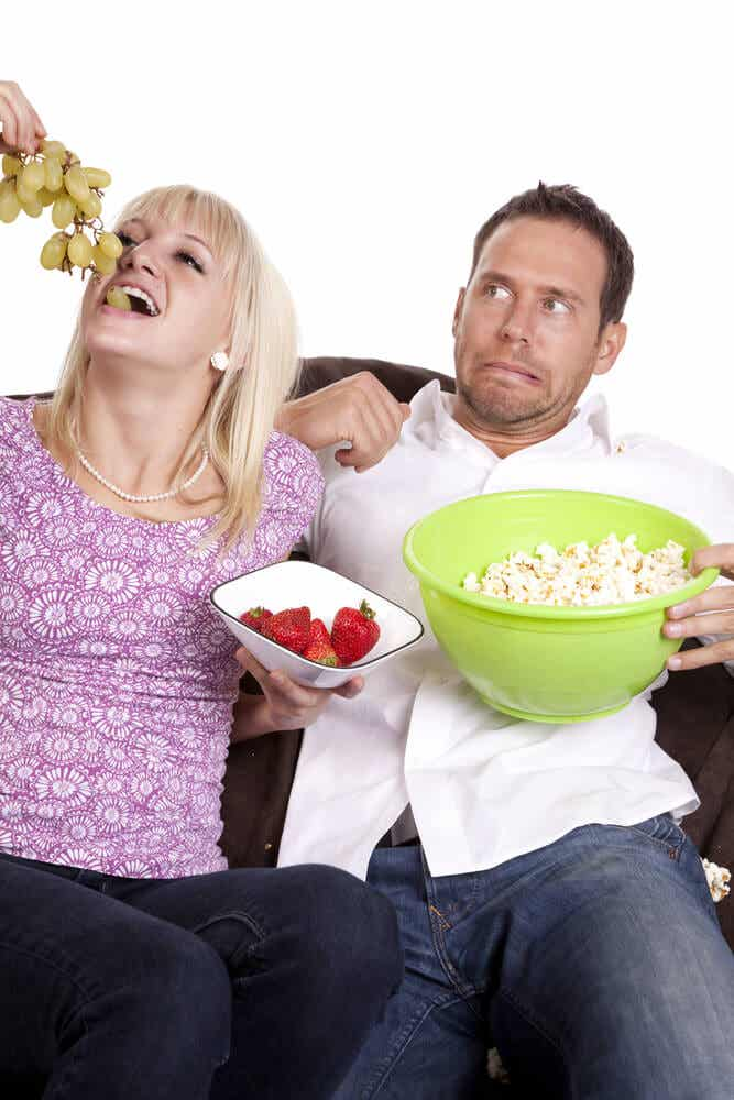 Hábitos de comida diferentes: a mi pareja y a mí nos gustan platos diferentes