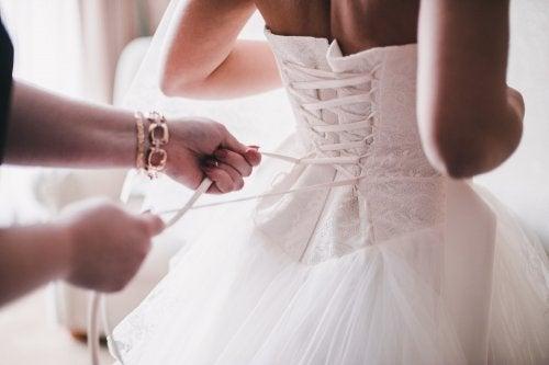 corsé de vestido de novia