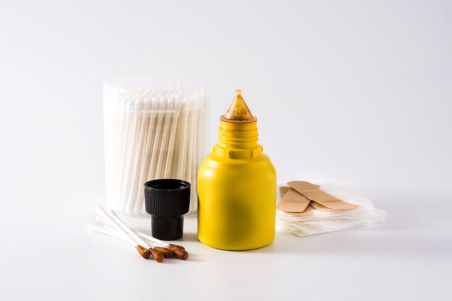 Elementos para desinfectar las heridas