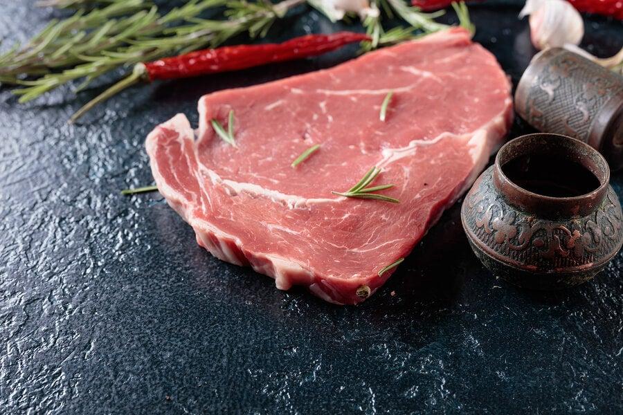 Filete de carne con especias.