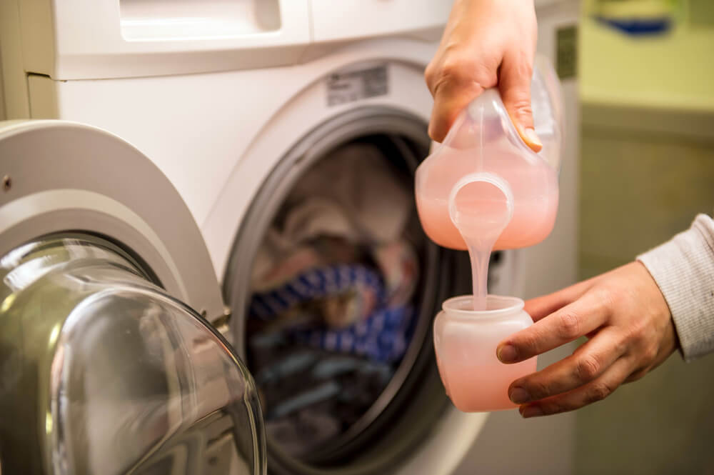 Suavizante para el lavarropas.