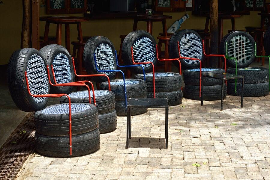 sillones con neumáticos