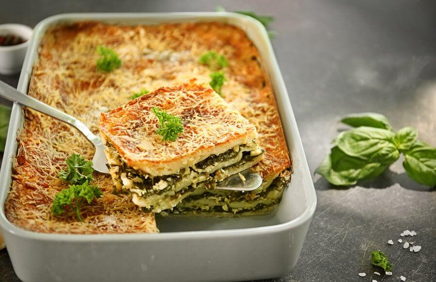 2 recetas de lasaña con espinaca