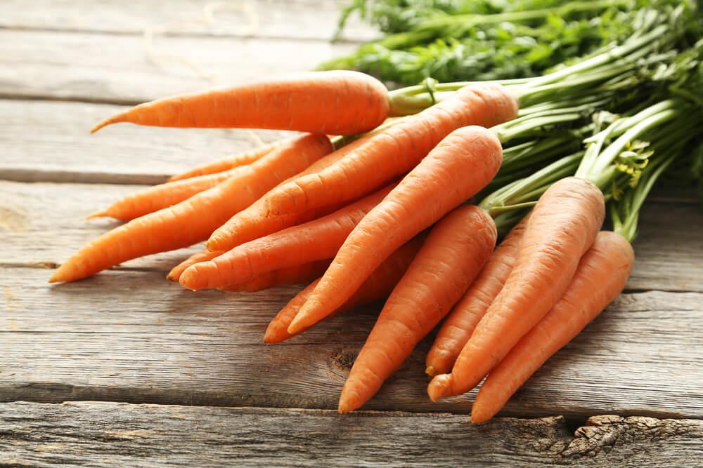 Zanahorias con betacarotenos.