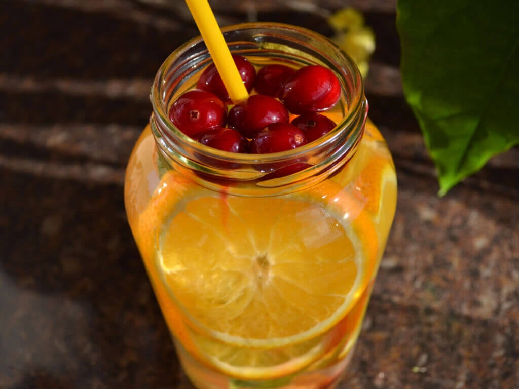Cranberry and orange juice