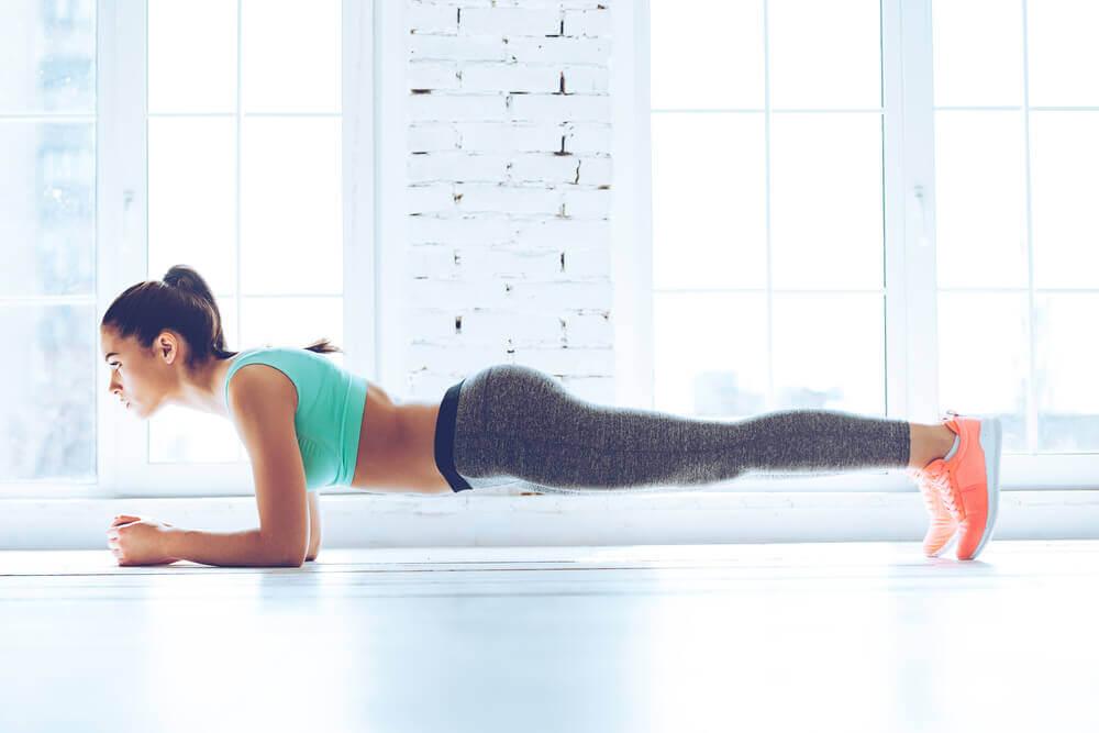Plancha como ejercicio isométrico.