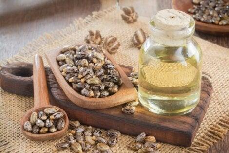 Aceite de ricino y aceite de soja
