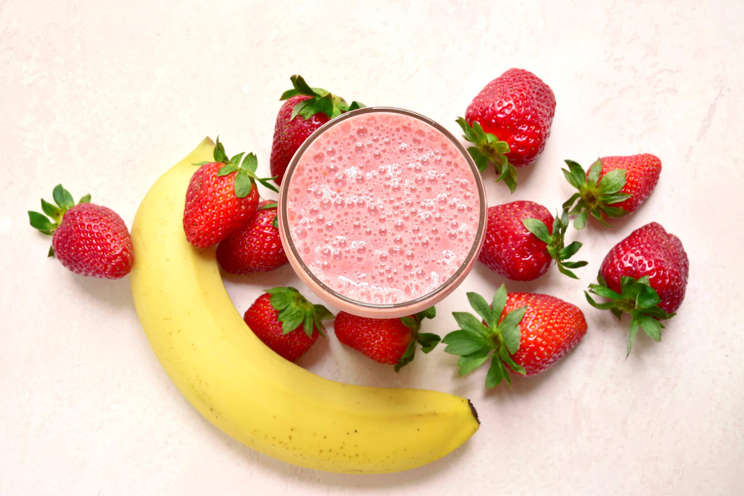 Los batidos de proteína saludables son buenos para la salud.
