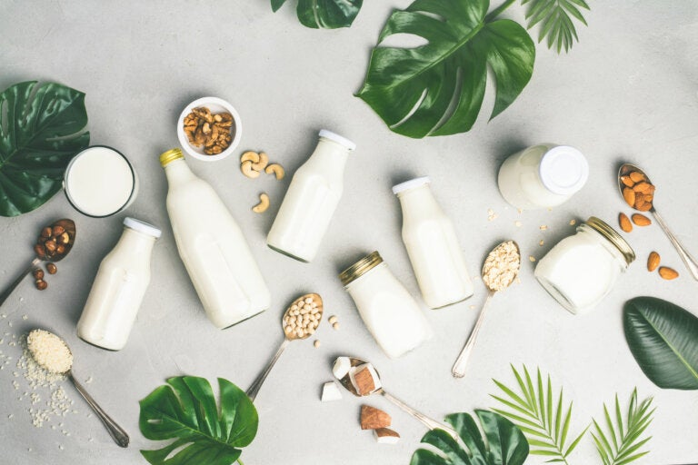 Leche descremada versus leche entera