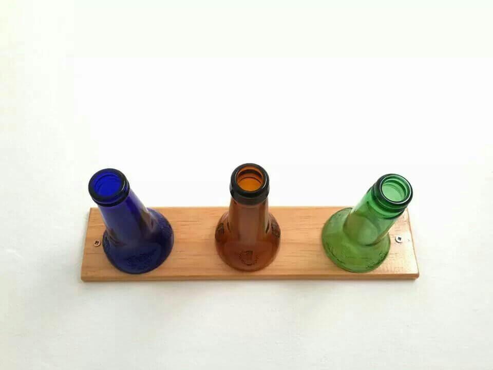 hacer un perchero con botellas