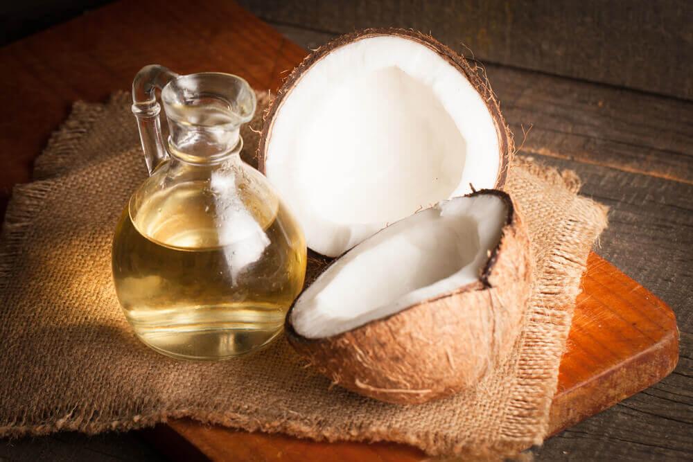 Aceite de coco natural.