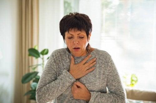 Mujer no respira