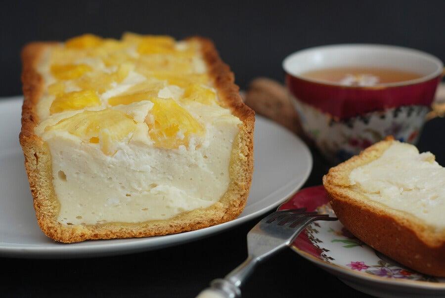 Pastel de queso al horno con piña colada
