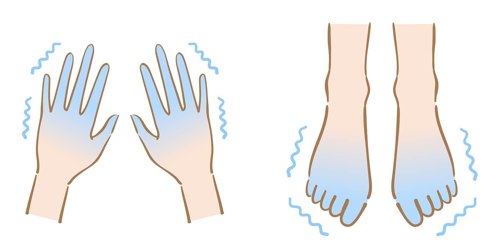 Manos y pies fríos