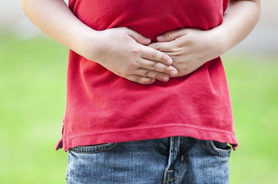 El sistema digestivo de los niños