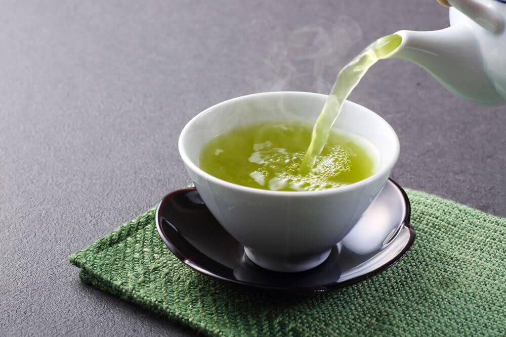 Té verde para la salud.